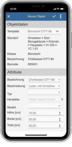 App inventory new object
