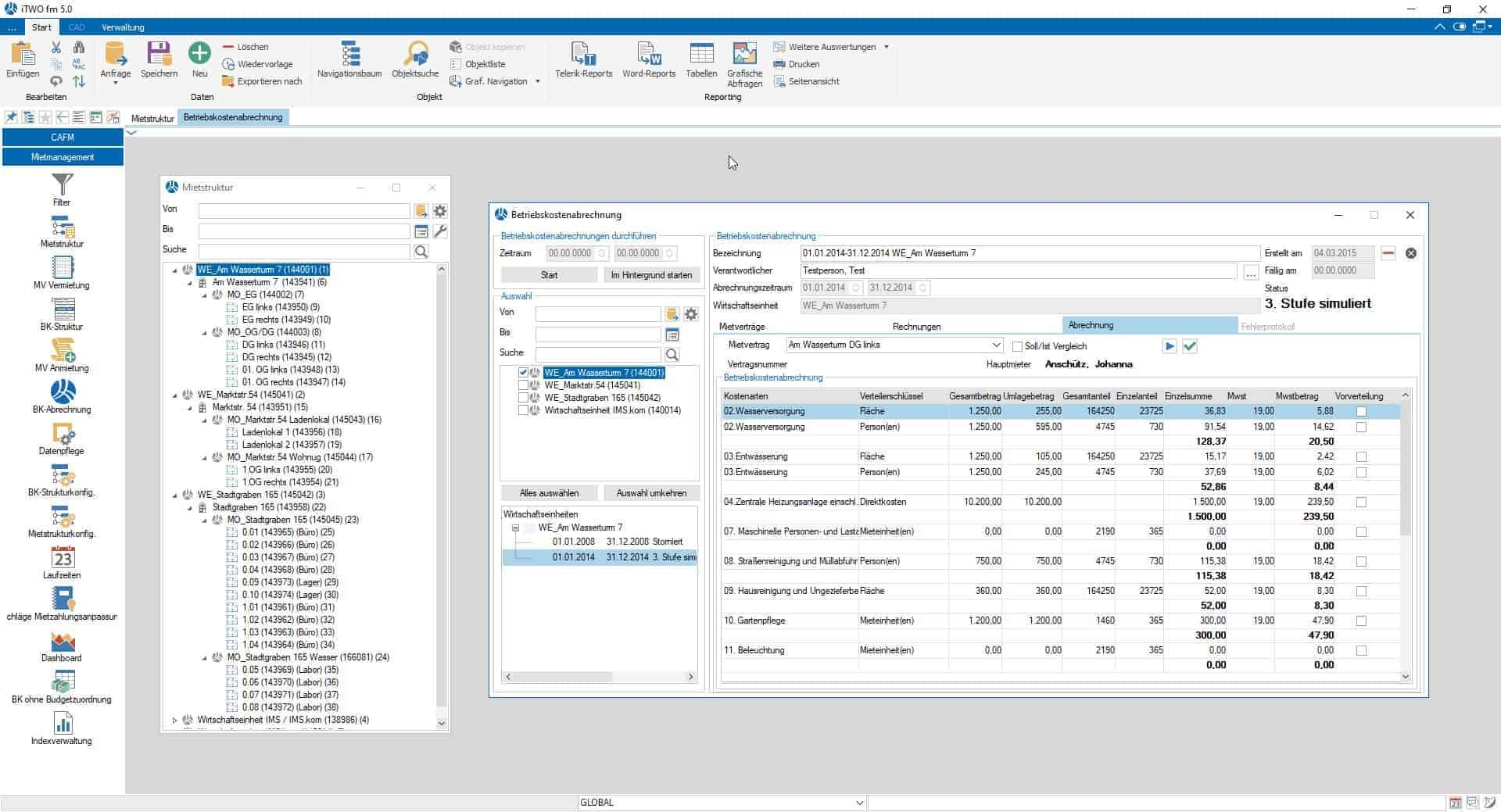 Mietmanagement Betriebskostenstruktur-Betriebskostenabrechnung